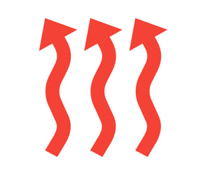 Three red wavy arrows show the heating services for spring hill pro air