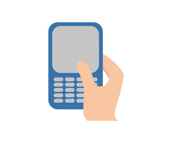 A graphic of a hand texting on a cell phone. Leave a review for Betco Heating & Air Conditioning in Spring Hill, FL.